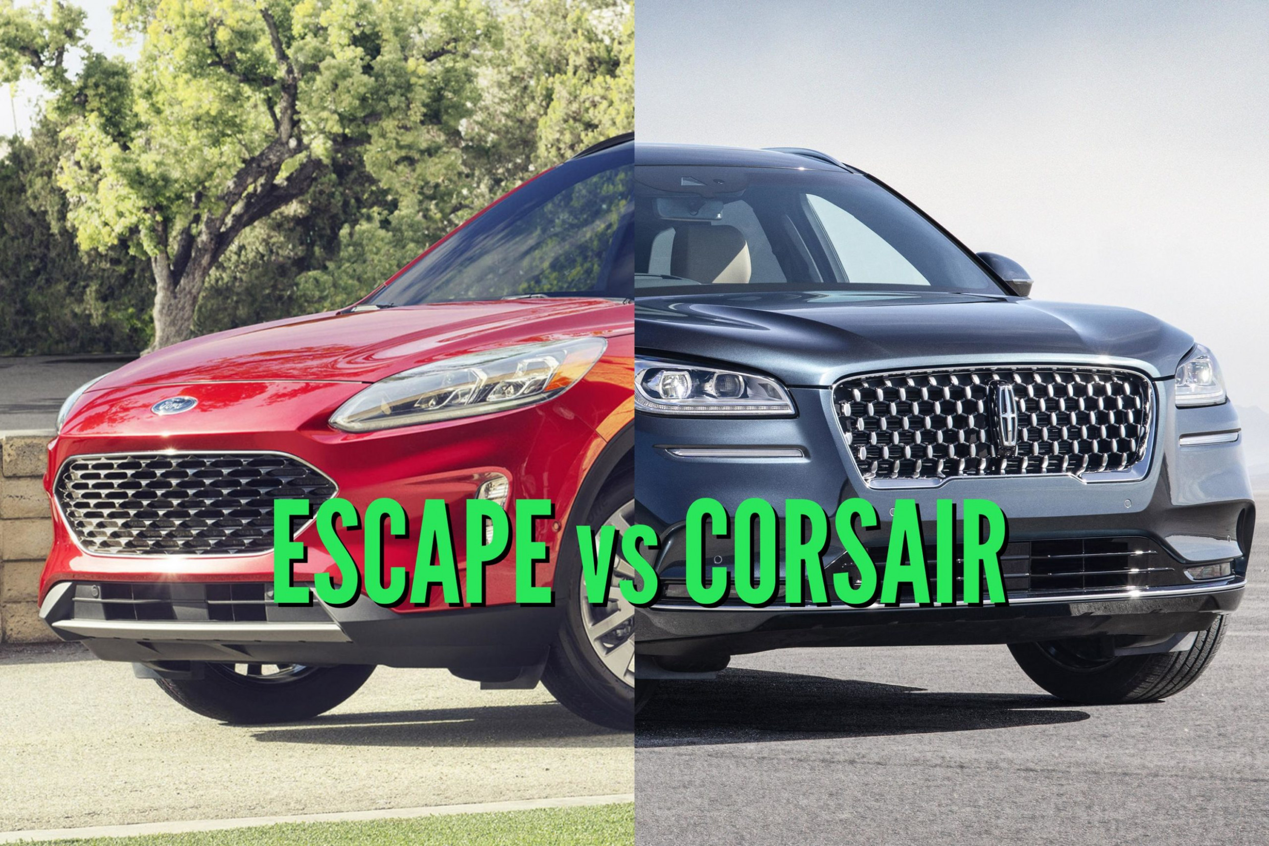 10 Ford Escape vs Lincoln Corsair: Differences compared side by side