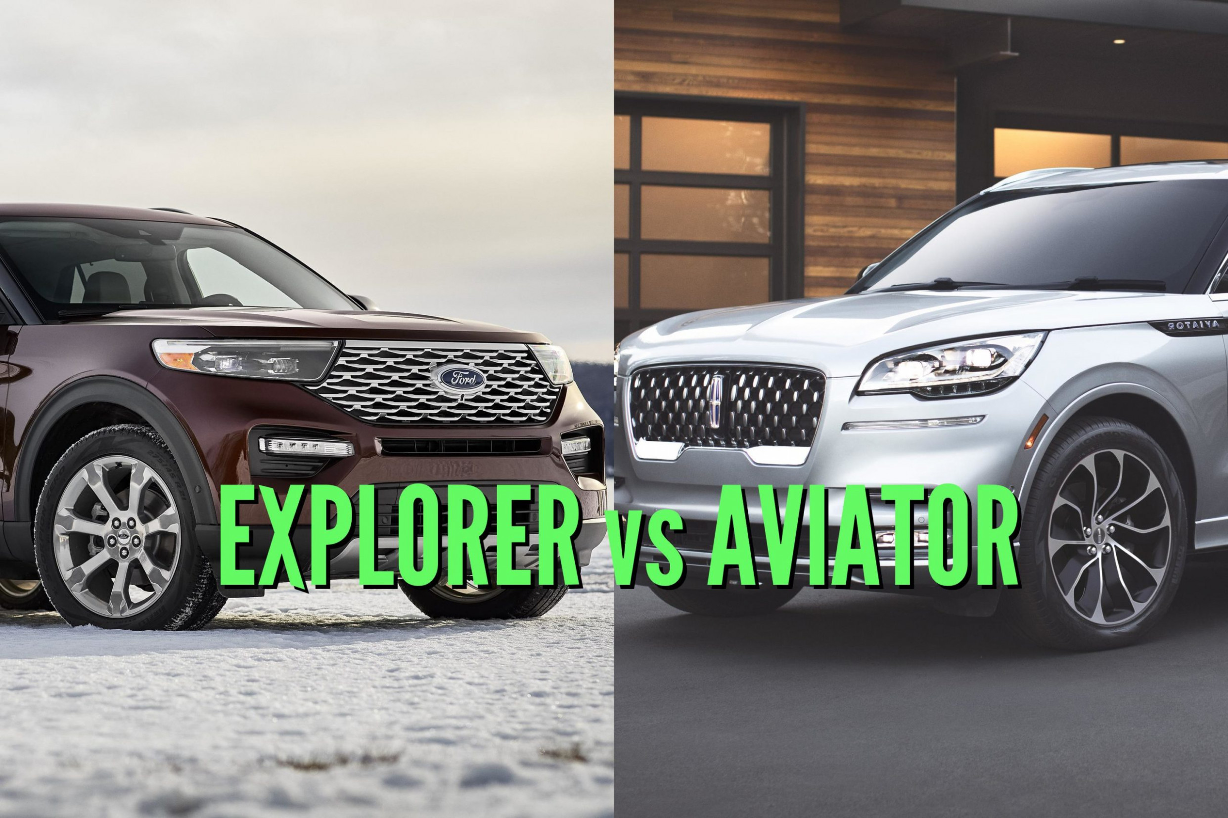 10 Ford Explorer vs Lincoln Aviator: Differences compared side ...