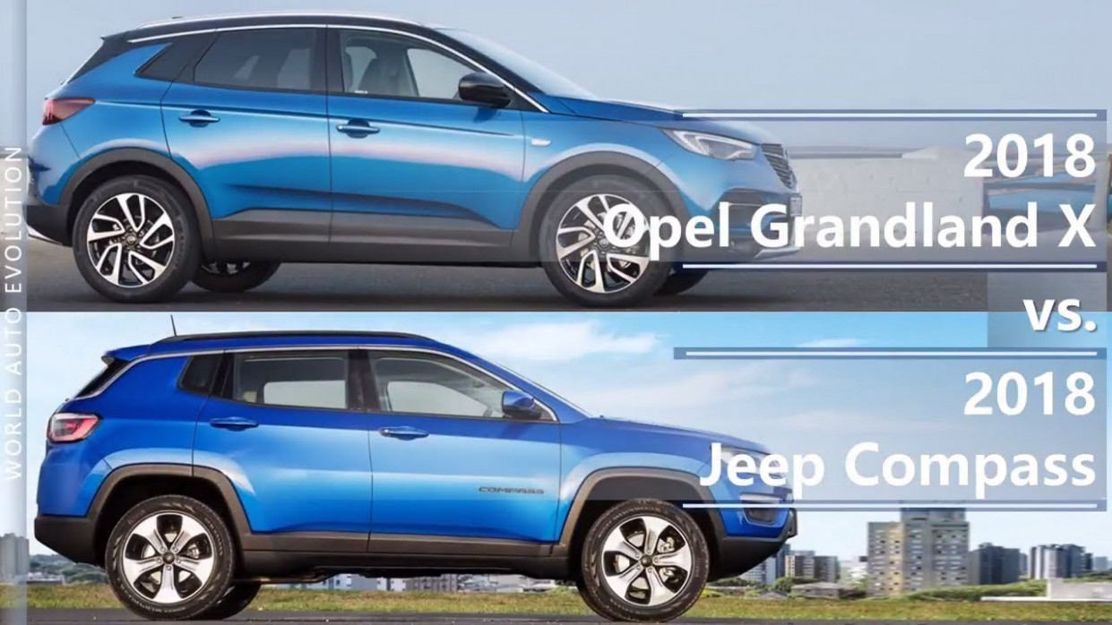 10 Opel Grandland X vs 10 Jeep Compass (technical comparison) - 2020 opel jip