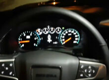 11 Gmc denali heads up display review on front collision alert