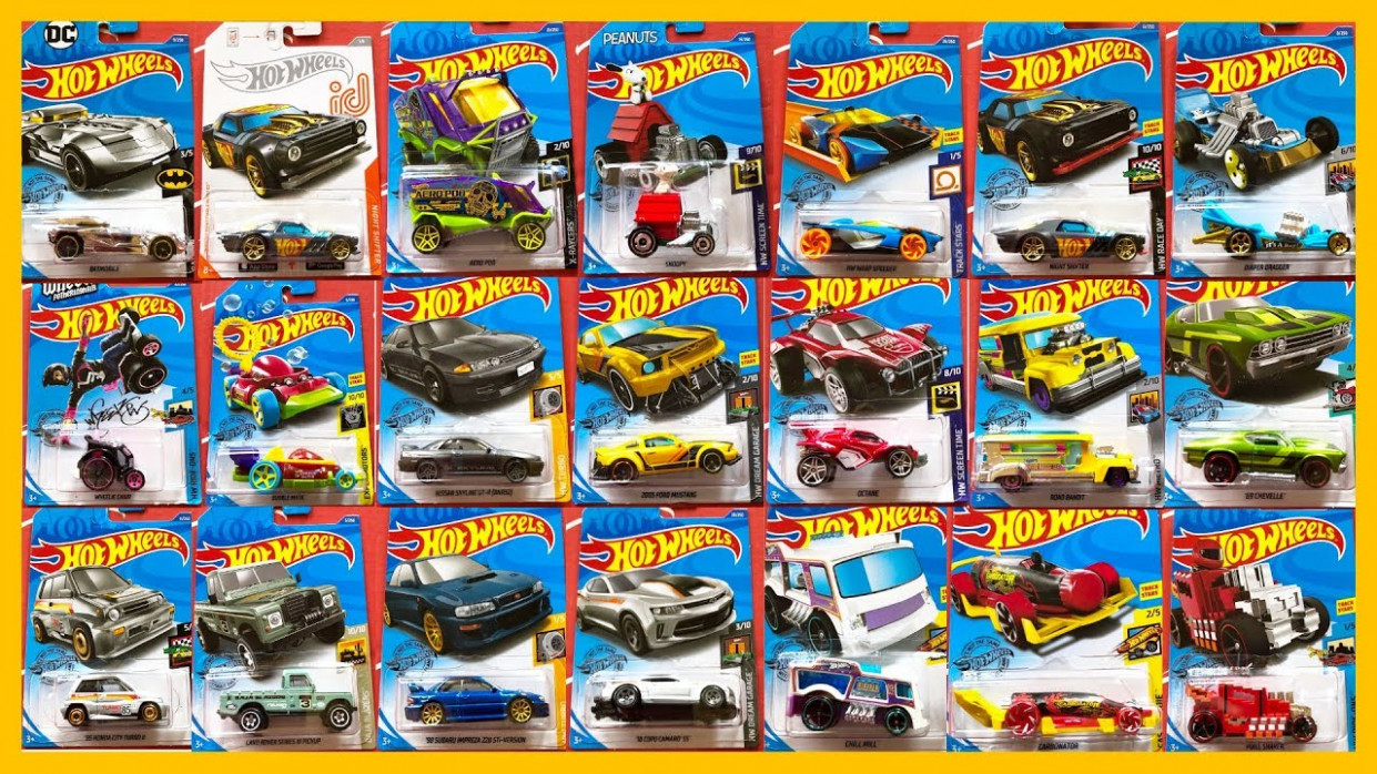 11 Hot Wheels A Case Cars