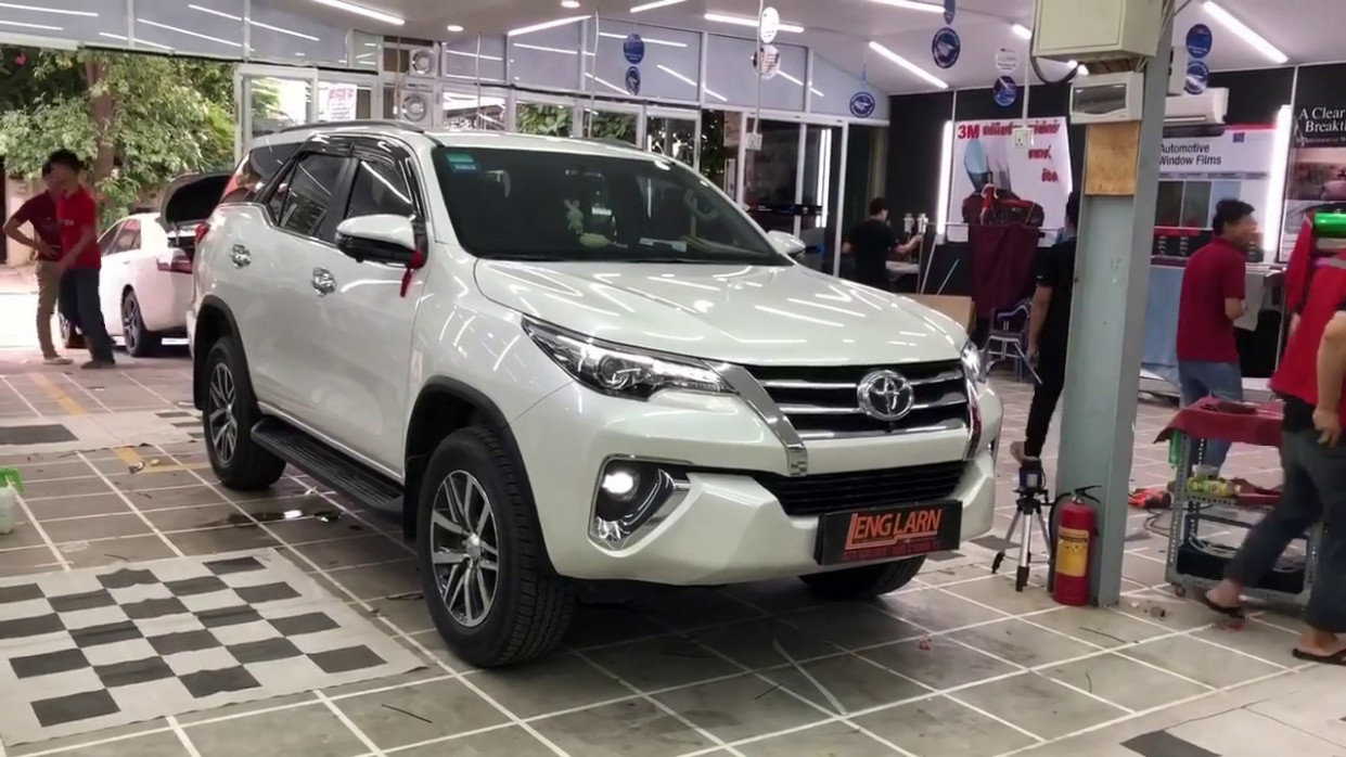 11 TOYOTA FORTUNER white Color Upgrade Body | Car DIY