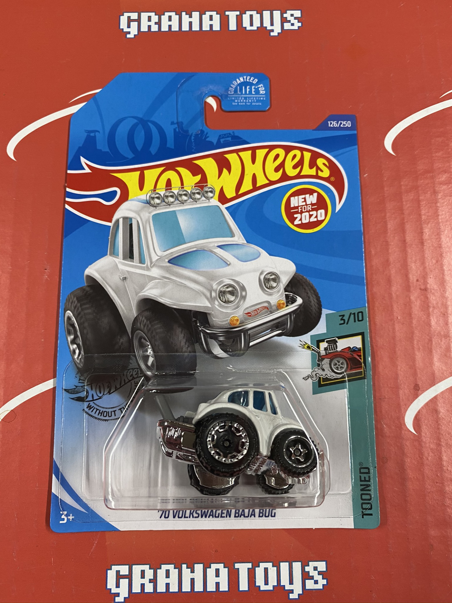 11 Volkswagen Baja Bug #11 White 11/11 Tooned 11 Hot Wheels Case F - hot wheels 2020 volkswagen series