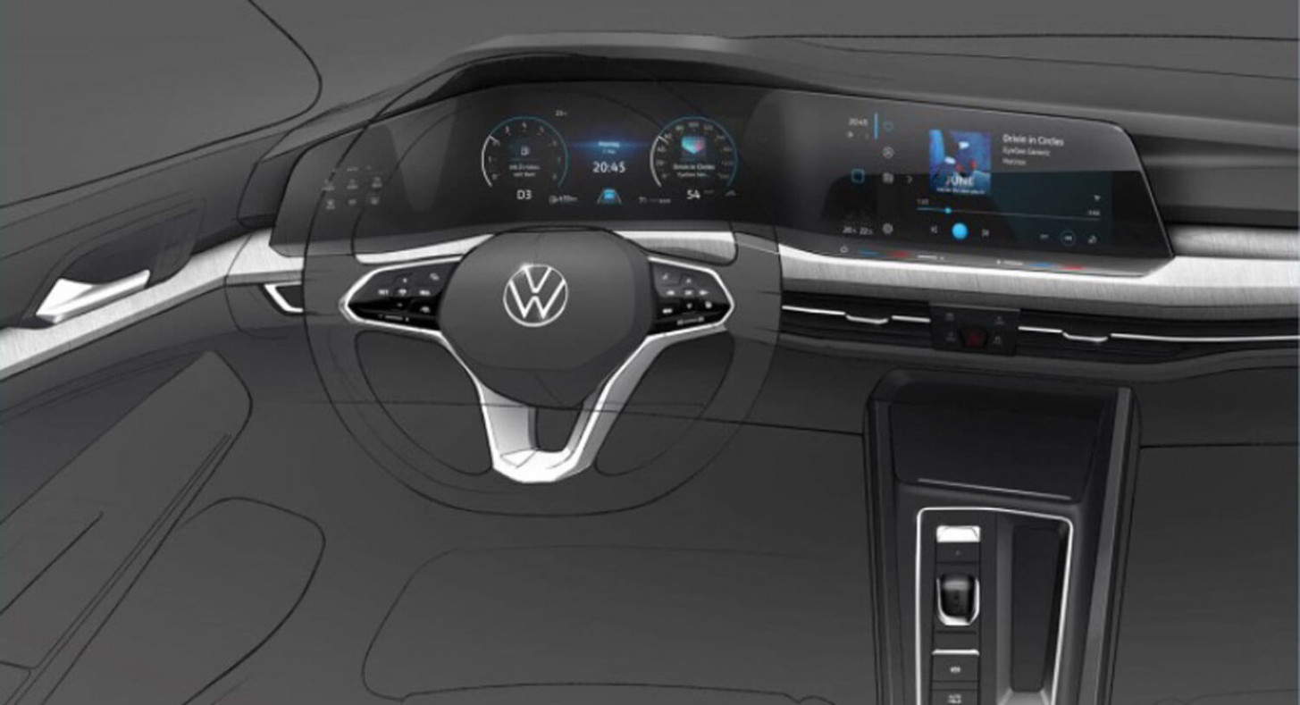 11 VW Golf 11 Interior and Exterior Sketches Are Very Revealing ..