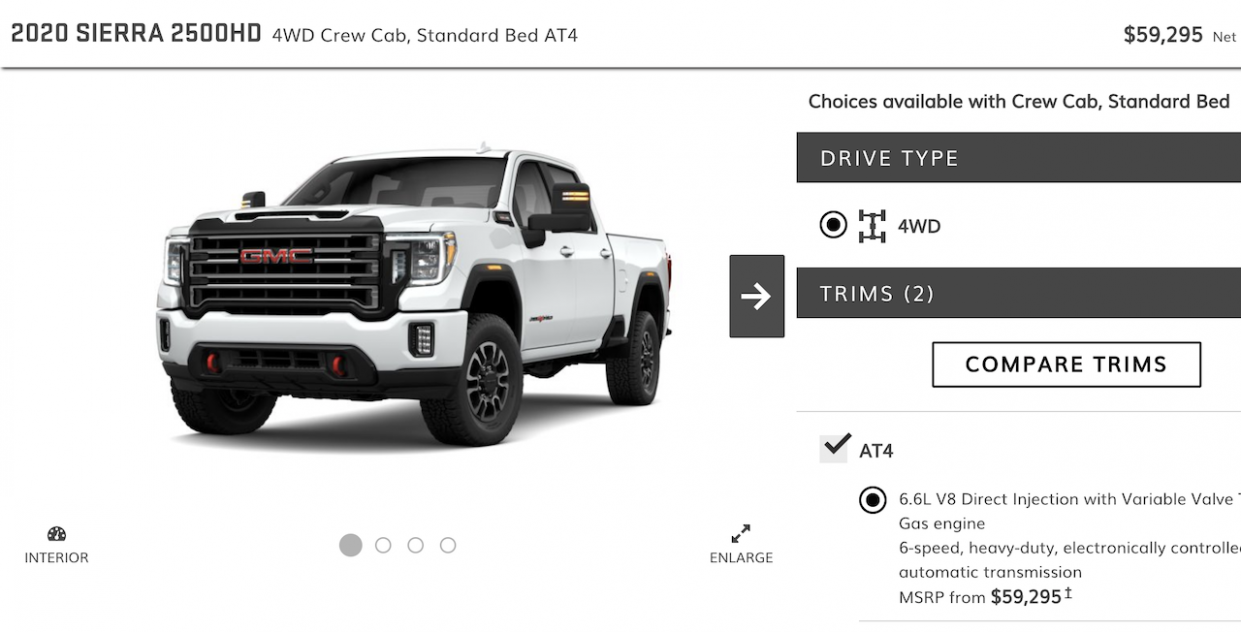 12 GMC Sierra HD Online Configurator Is Live! AT12 and Denali ..