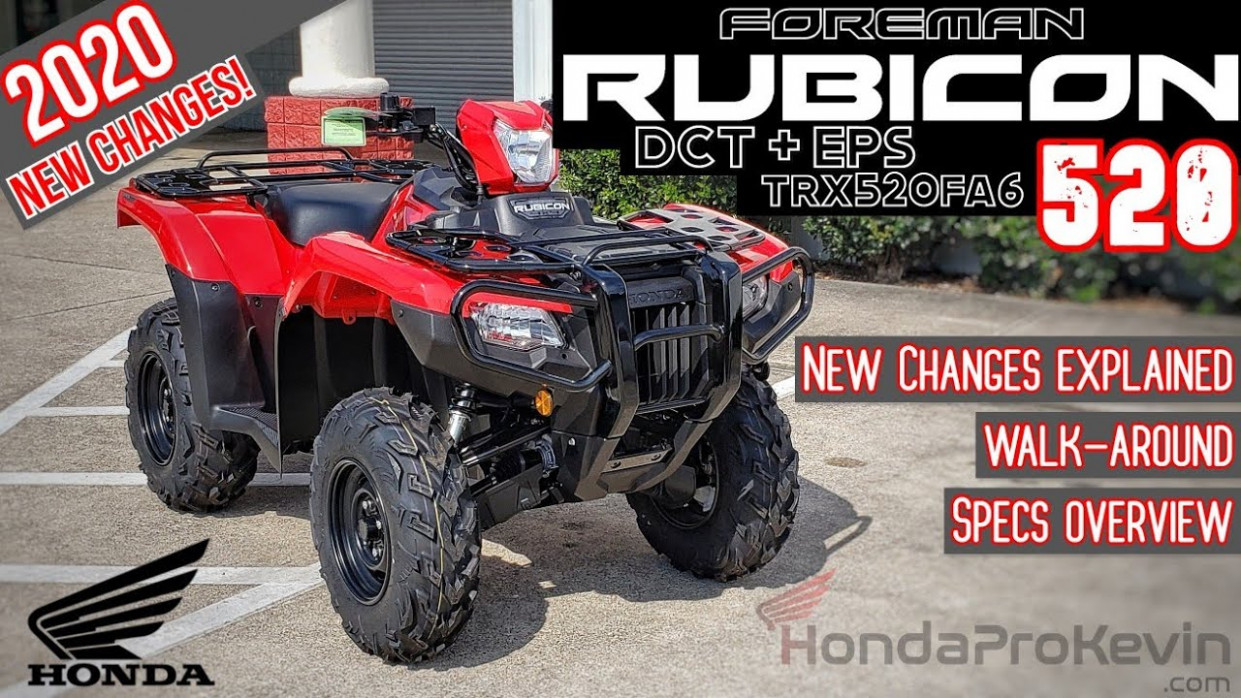 12 Honda Foreman RUBICON 12 DCT + EPS ATV Review of Specs / Changes &  Walk-Around (TRX12FA12) - 2020 honda rubicon