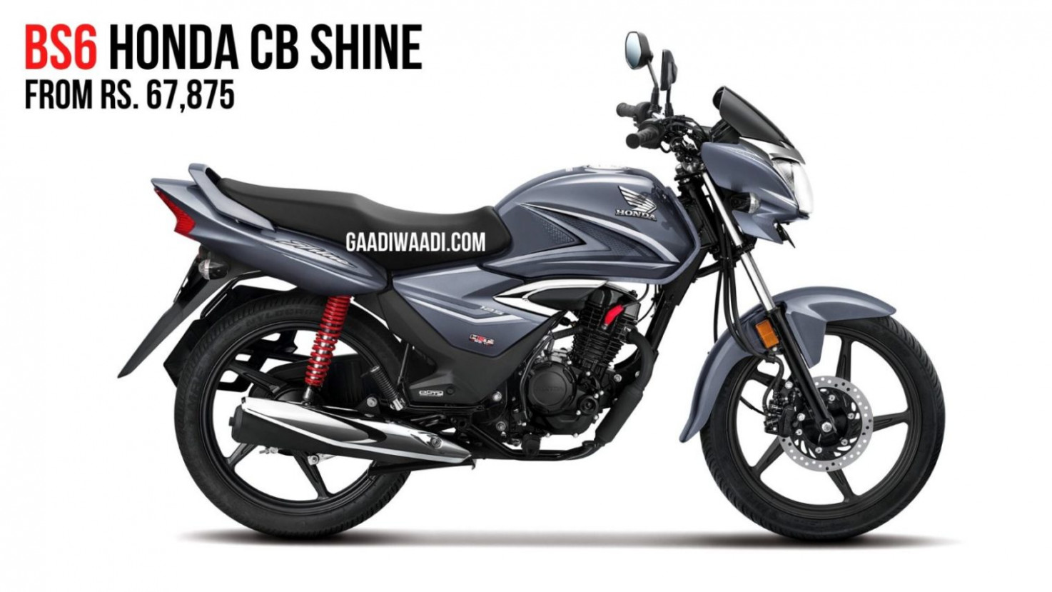 12 Honda Shine BS12 Launched In India; Priced From Rs. 127,12
