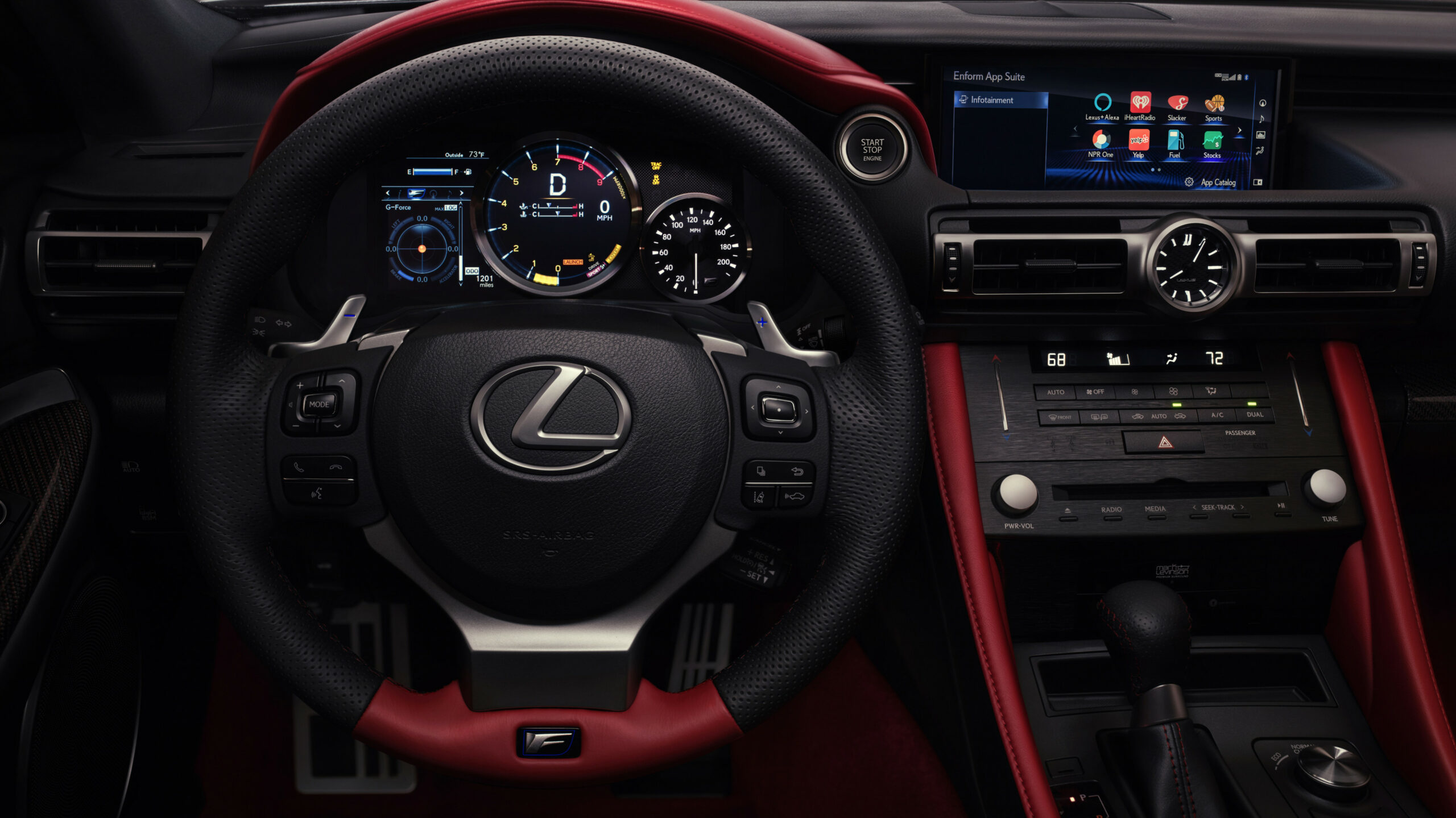12 Lexus RC F Track Edition 12K Interior Wallpaper | HD Car ..