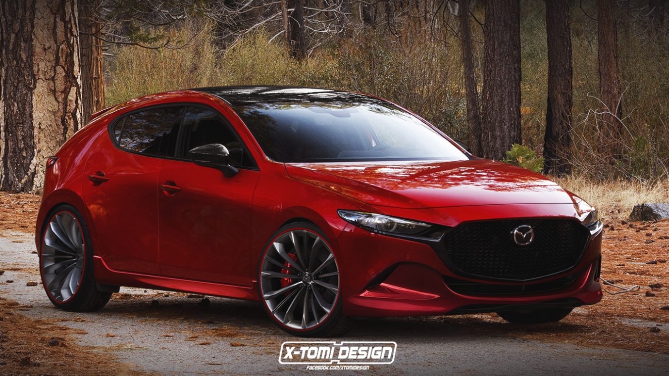 12 Mazda12 Mps Mazdaspeed12 Rendering Is A Classy Hot Hatch 12 ..