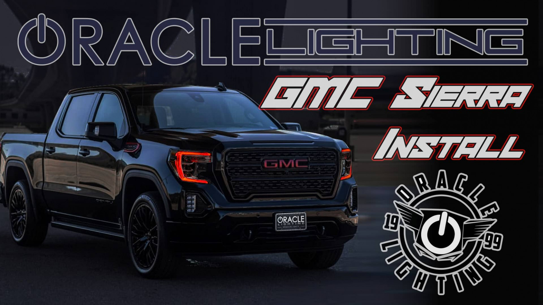 8-8 GMC Sierra ORACLE ColorSHIFT RGB+W Headlight DRL Upgrade
