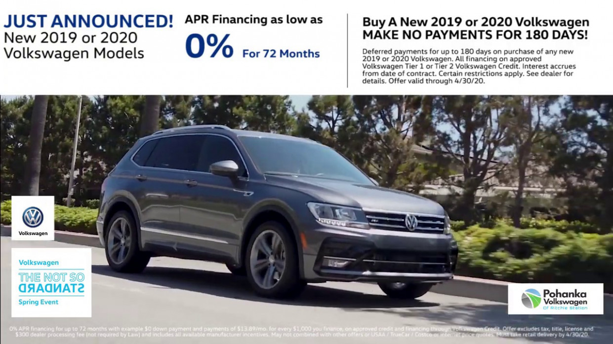 8% APR for 8 Mos. On New 2819 Or 2828 Volkswagen Models!
