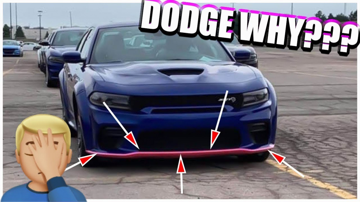 9 DODGE CHARGER WIDEBODY will have PINK SPLITTER GUARDS????