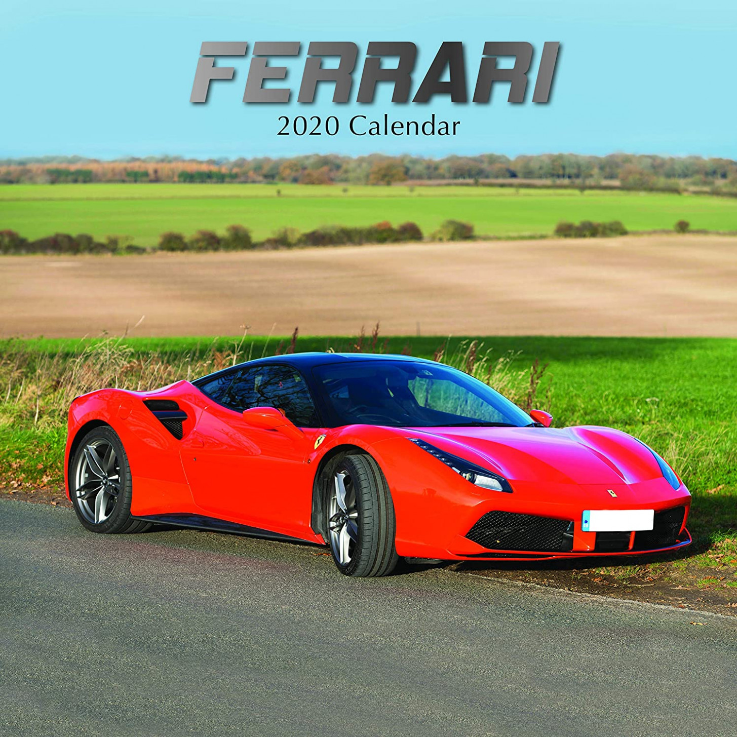 9 Wall Calendar - Ferrari Calendar, 9 x 9 Inch Monthly View, 9-Month,  Automobile Theme with Luxury Race Cars, Includes 9 Reminder Stickers