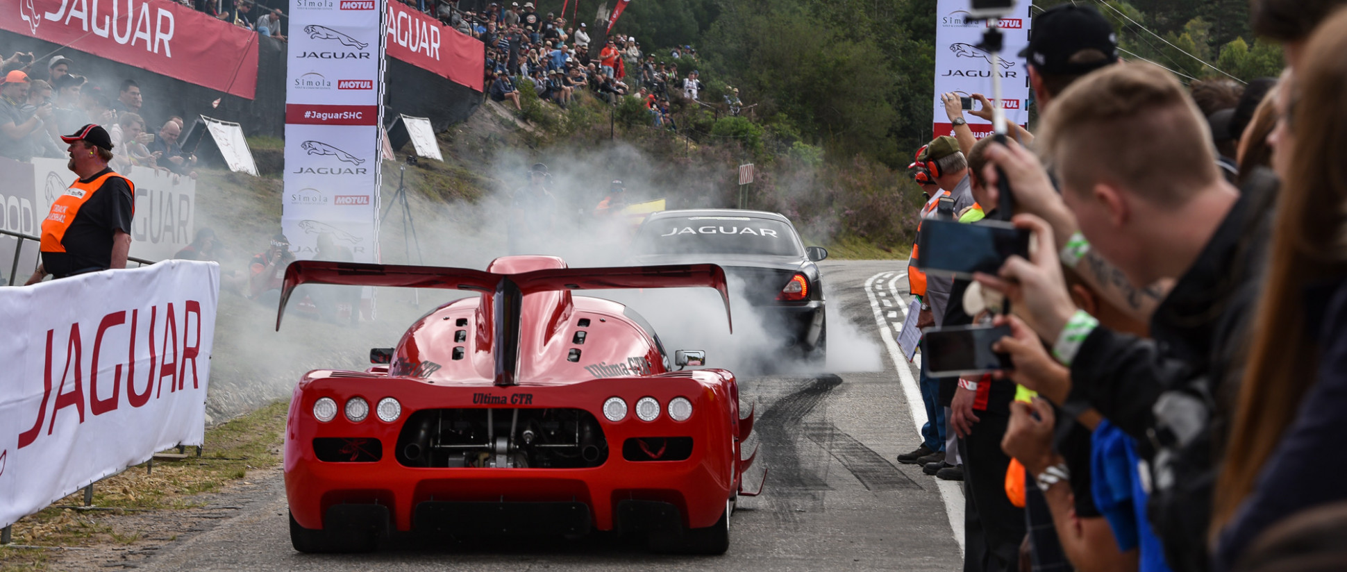 A thrilling festival of speed at 11 Jaguar Simola Hillclimb ..