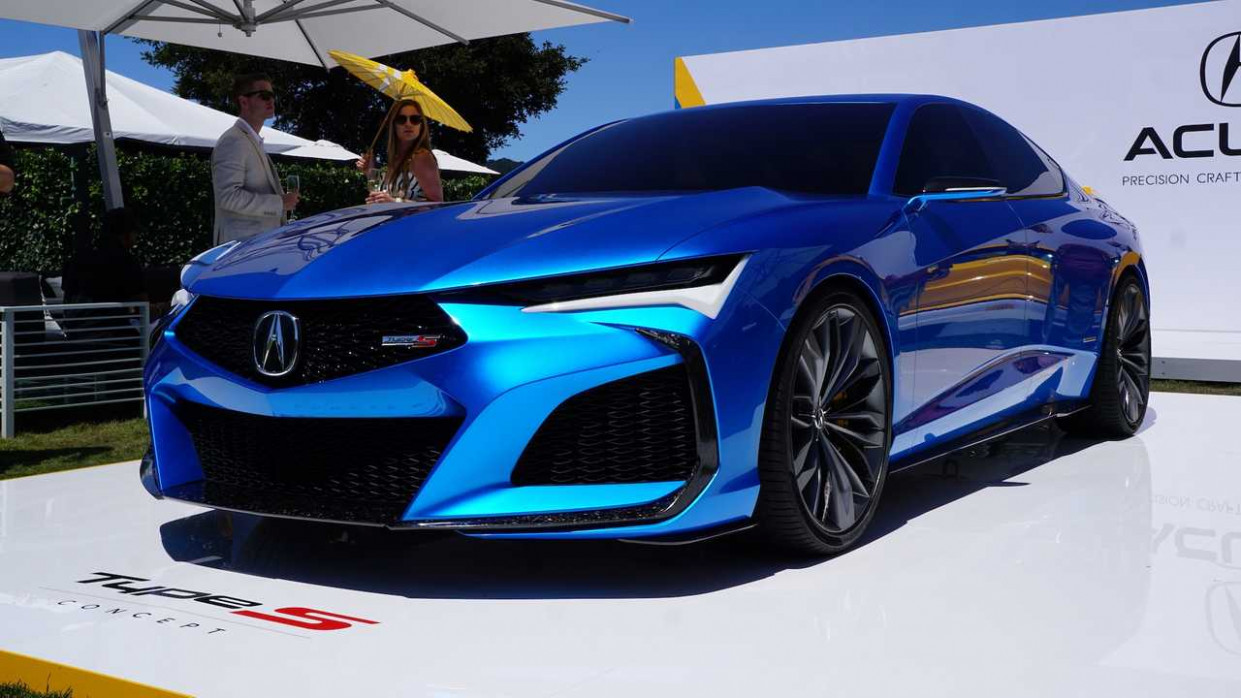 Acura Type S Concept, NSX Indy Yellow Pearl Dazzle At Pebble Beach - 2020 acura sports car