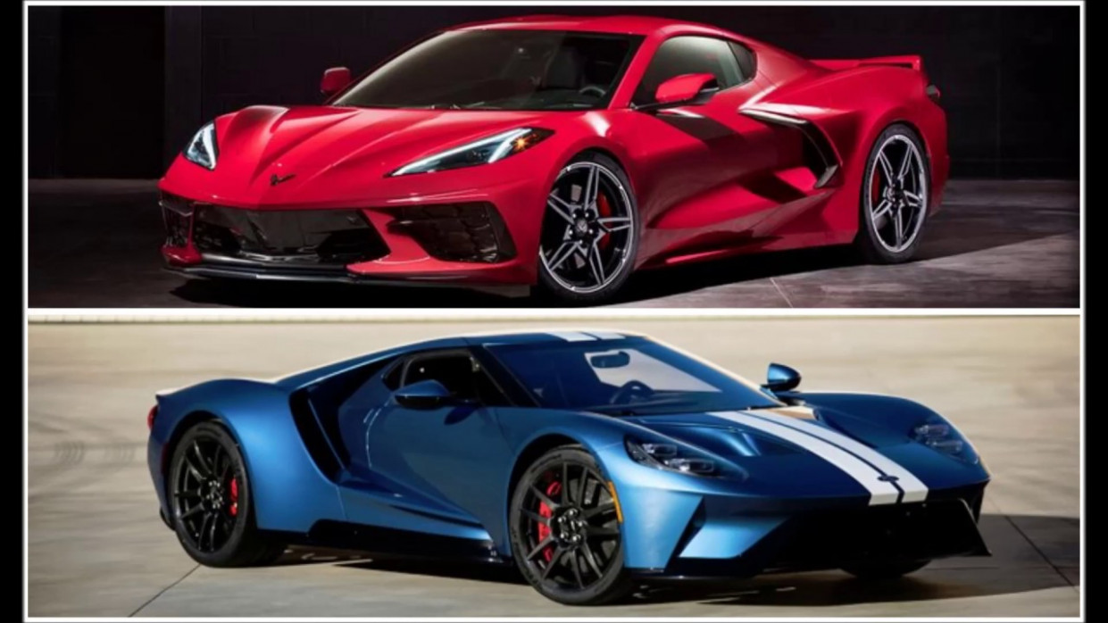 American Mid-engine Super Car Battle 8 Corvette Stingray (C8) VS 8  Ford GT - 2020 zr1 vs ford gt