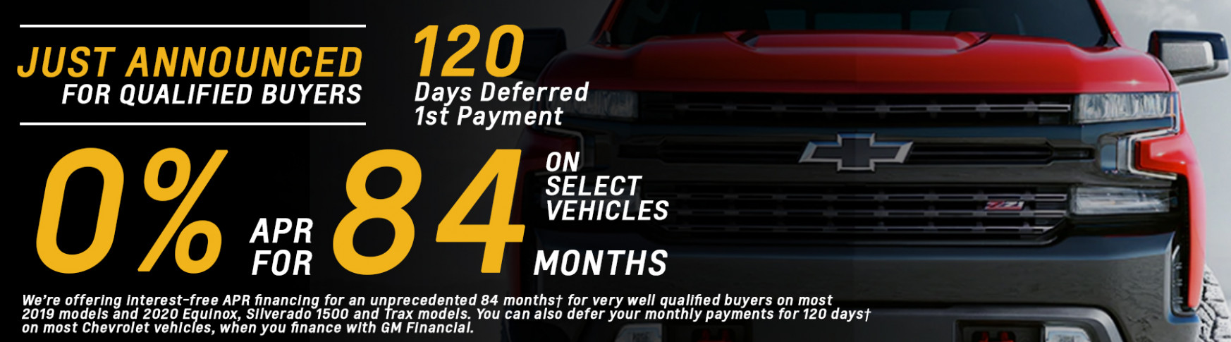 Best New Chevy Lease Offers MA & Lowest Prices | Quirk Chevy - chevrolet zero percent financing 2020