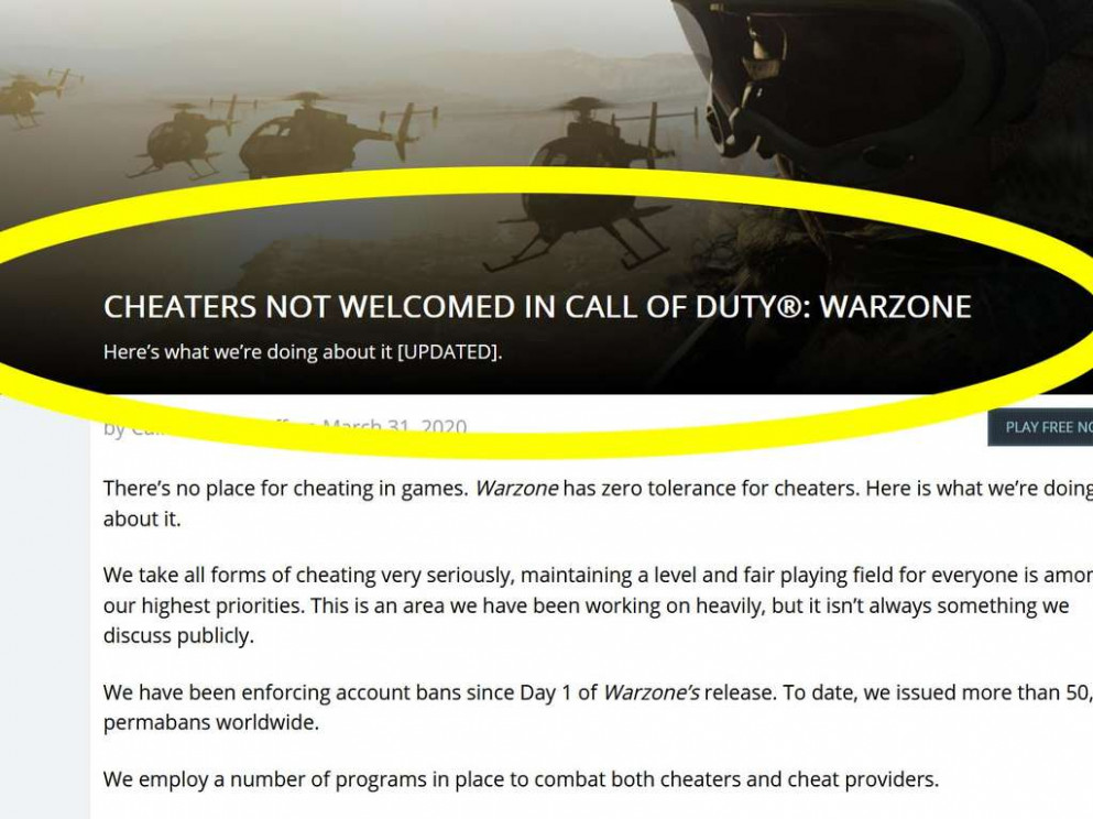 Call of Duty Warzone: Entwickler bestrafen Cheater aktuell sehr ..