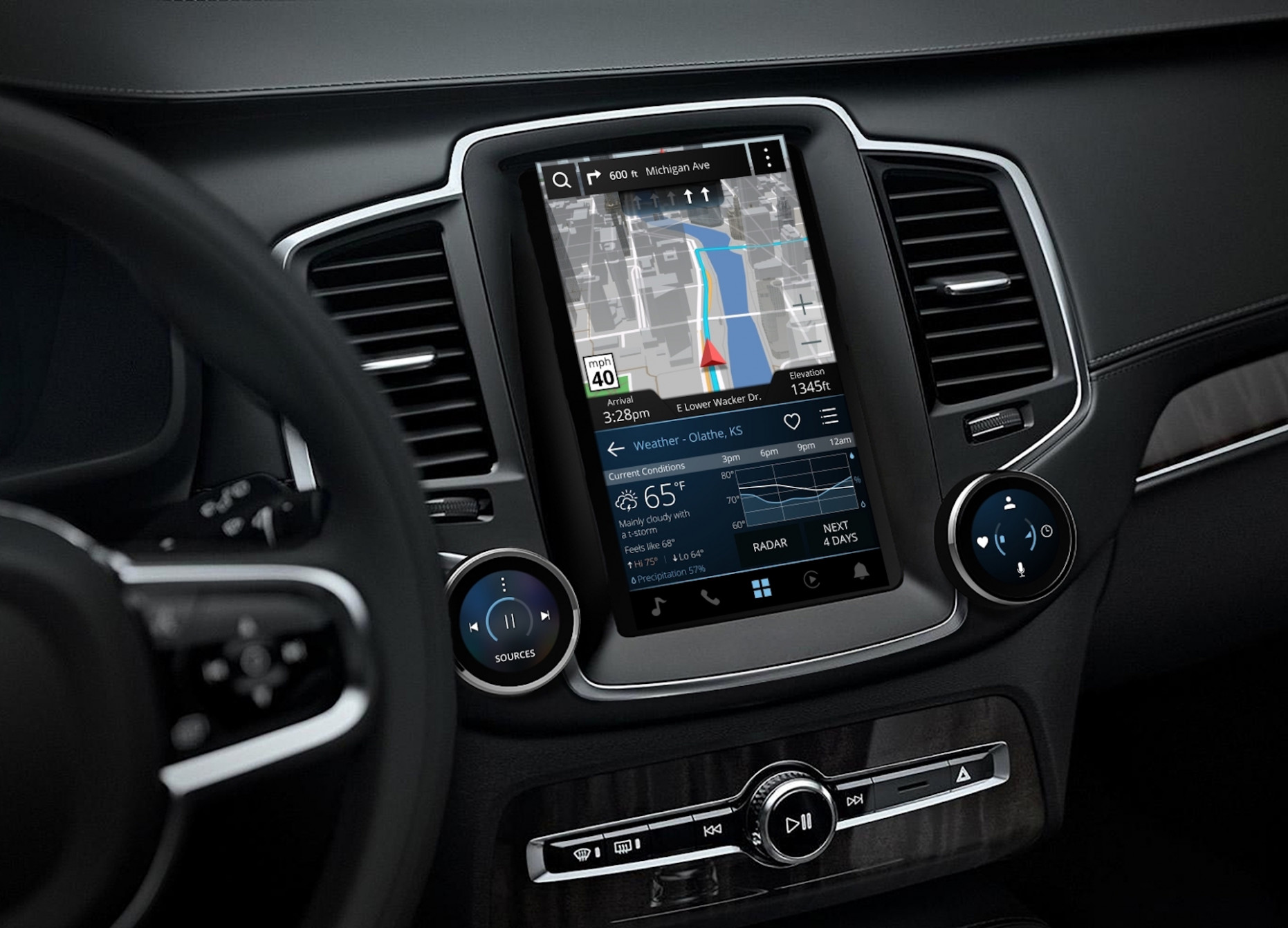 Did Garmin just reveal the 11 Volvo S11/V11 interior?