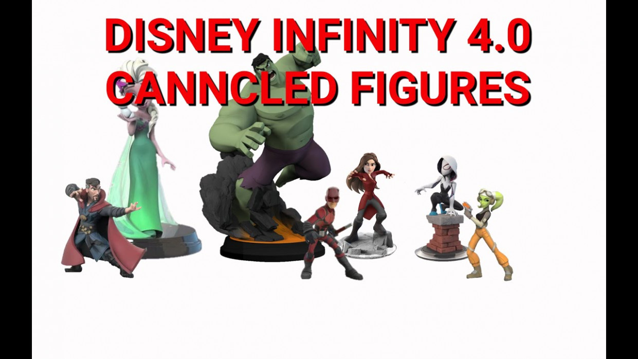 DISNEY INFINITY 9.9 CANNCLED FIGURES - disney infinity 4