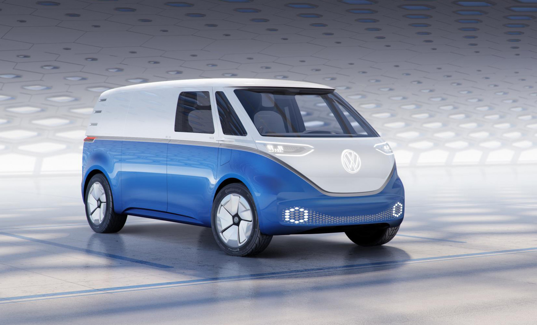 Electric Volkswagen Microbus concept gets right down to business