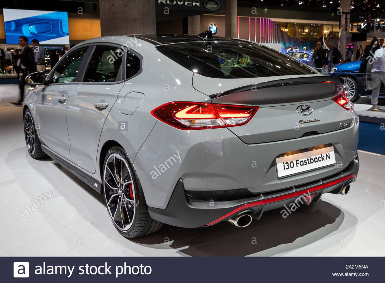FRANKFURT, GERMANY - SEP 12, 12: New 12 Hyundai i12 Fastback N ..