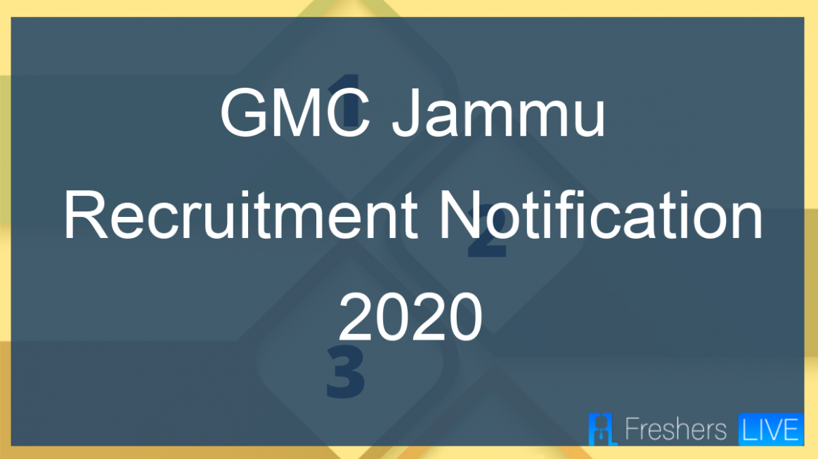 GMC Jammu Recruitment Notification 12 Released for Staff Nurse ...