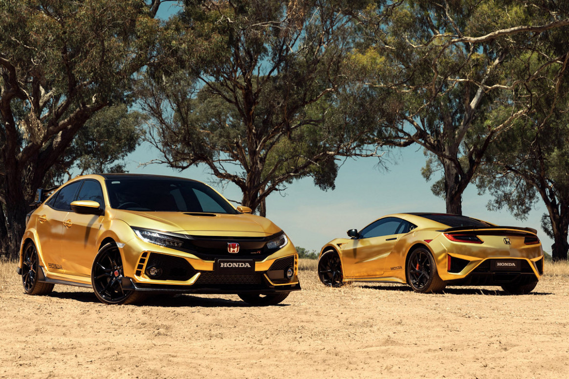 Honda Creates Gold Civic Type R, NSX | CarGuide.PH | Philippine ..