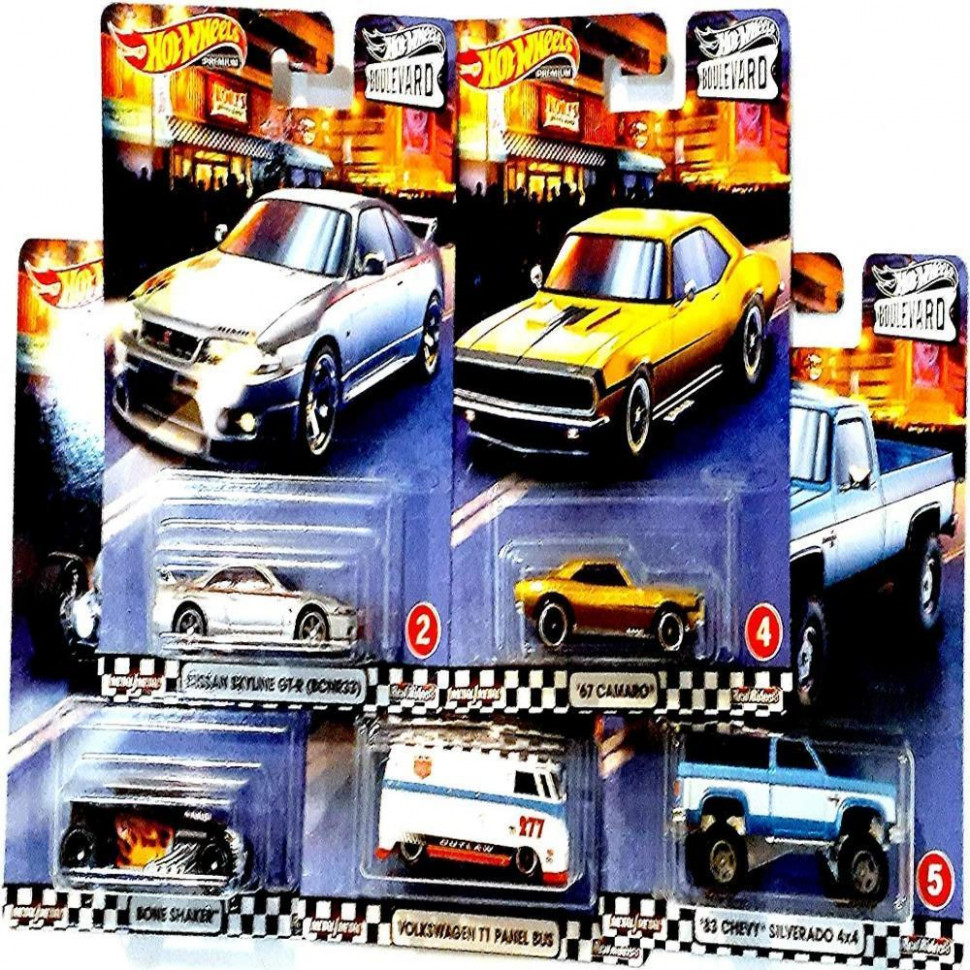 Hot Wheels 11 Boulevard Series Set of 11 Car