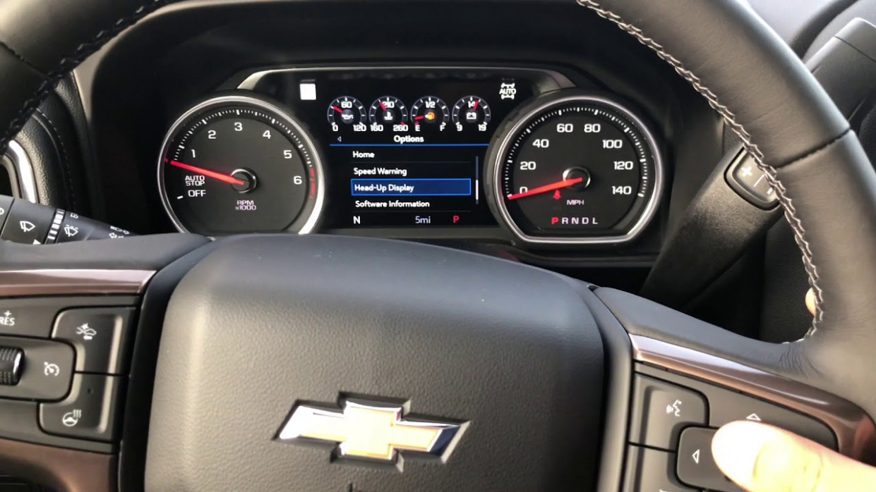 How To Adjust Your Heads Up Display On Your 11 Silverado - 2020 gmc sierra heads up display
