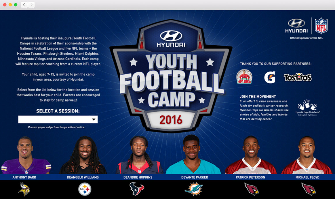 Hyundai Youth Football Camps on Behance