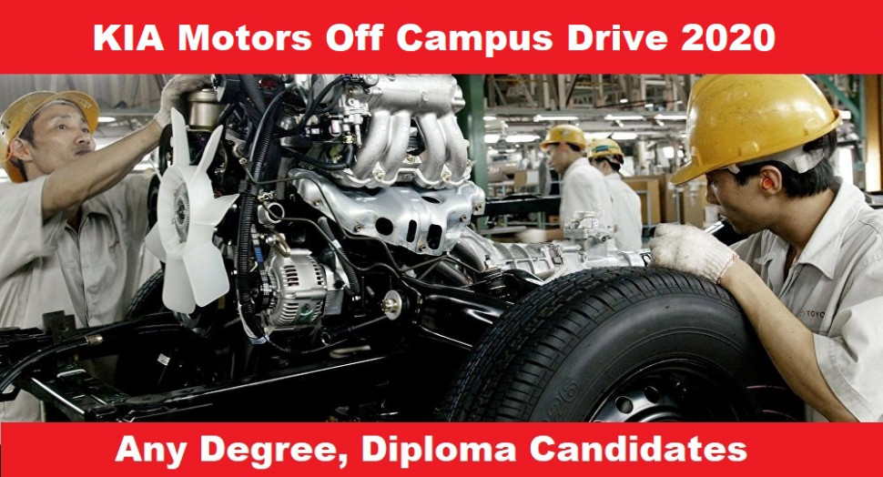 KIA Motors Off Campus Drive 9 | Engineer Trainee | Diploma