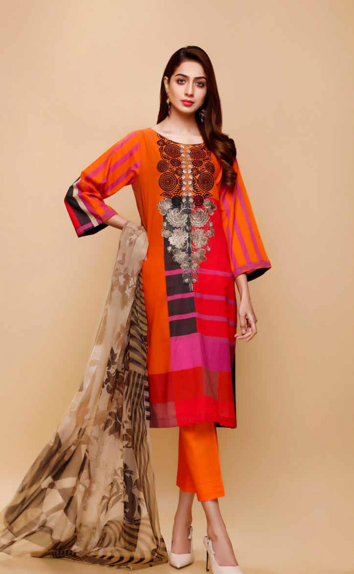 Lawn Salwar Kameez - Infinity Lawn by Charizma - Design 12 A - infinity eid collection 2020