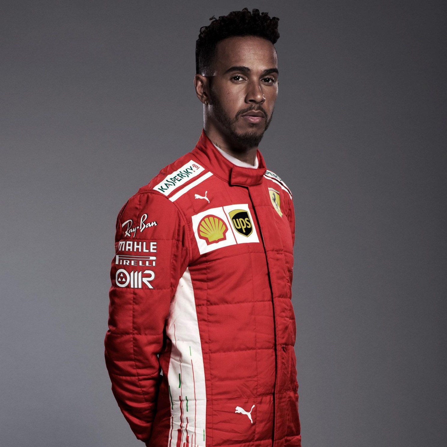 Lewis Hamilton with Ferrari