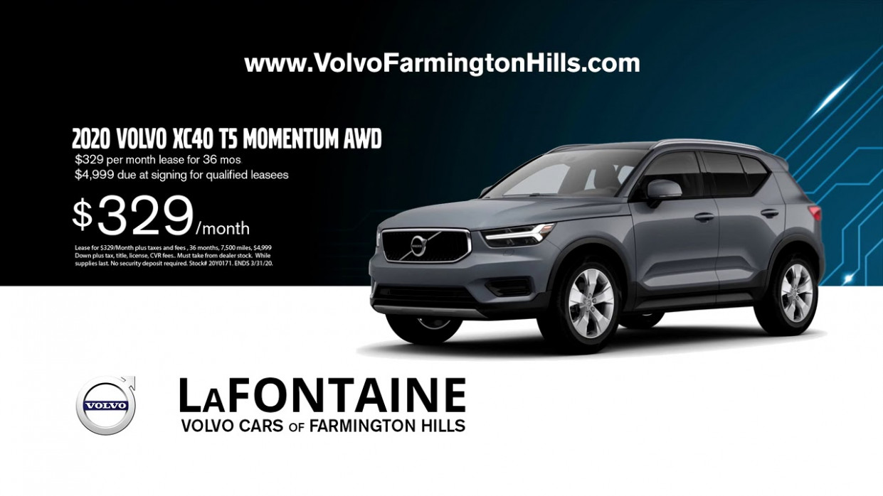 March Offer: Lease a 8 Volvo XC8 T8 Momentum AWD for $8/Month! - 2020 volvo xc40 lease