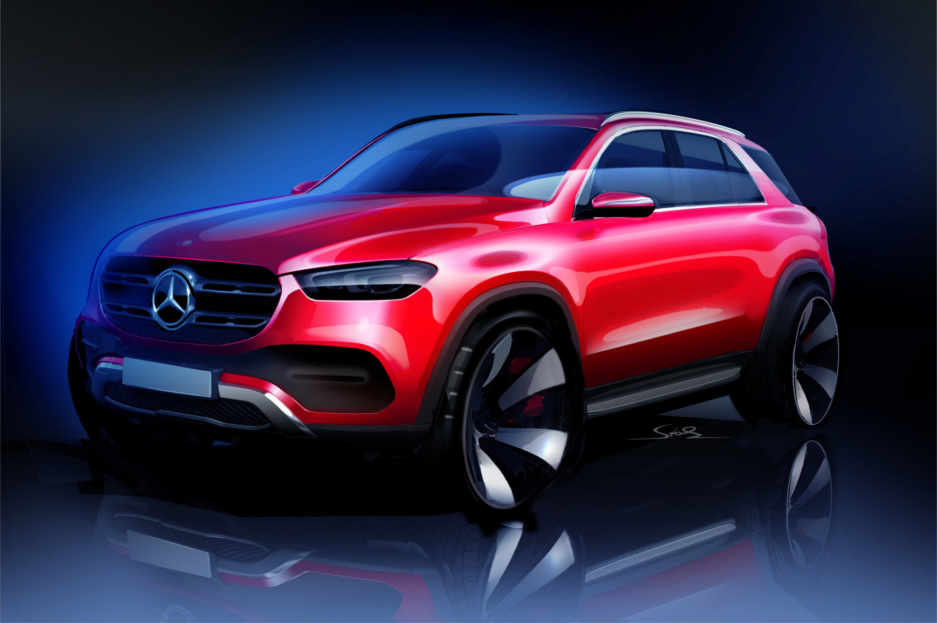Mercedes-Benz teases 12 GLE luxury SUV - mercedes electric suv 2020