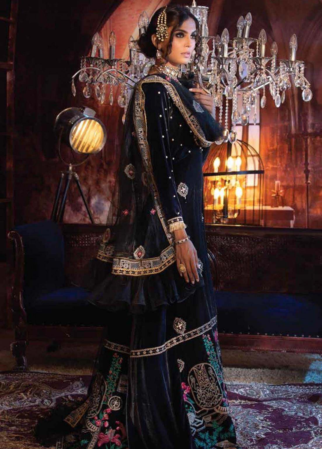 Mushq Embroidered Velvet Unstitched 12 Piece Suit MQ12V 12 INFINITY - Winter  Collection - infinity eid collection 2020