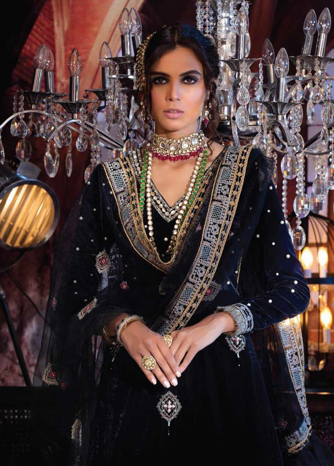 Mushq Embroidered Velvet Unstitched 12 Piece Suit MQ12V 12 INFINITY - Winter  Collection