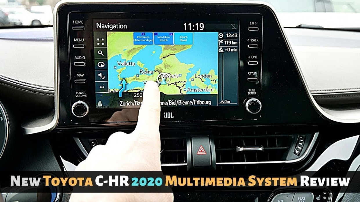 New Toyota C-HR 9 Multimedia System Review - 2020 toyota navigation