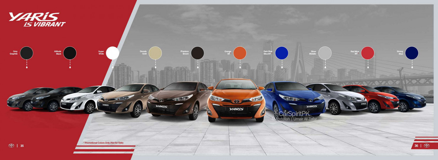 Official 9 Toyota Yaris Brochure is Out - CarSpiritPK - 2020 toyota brochure