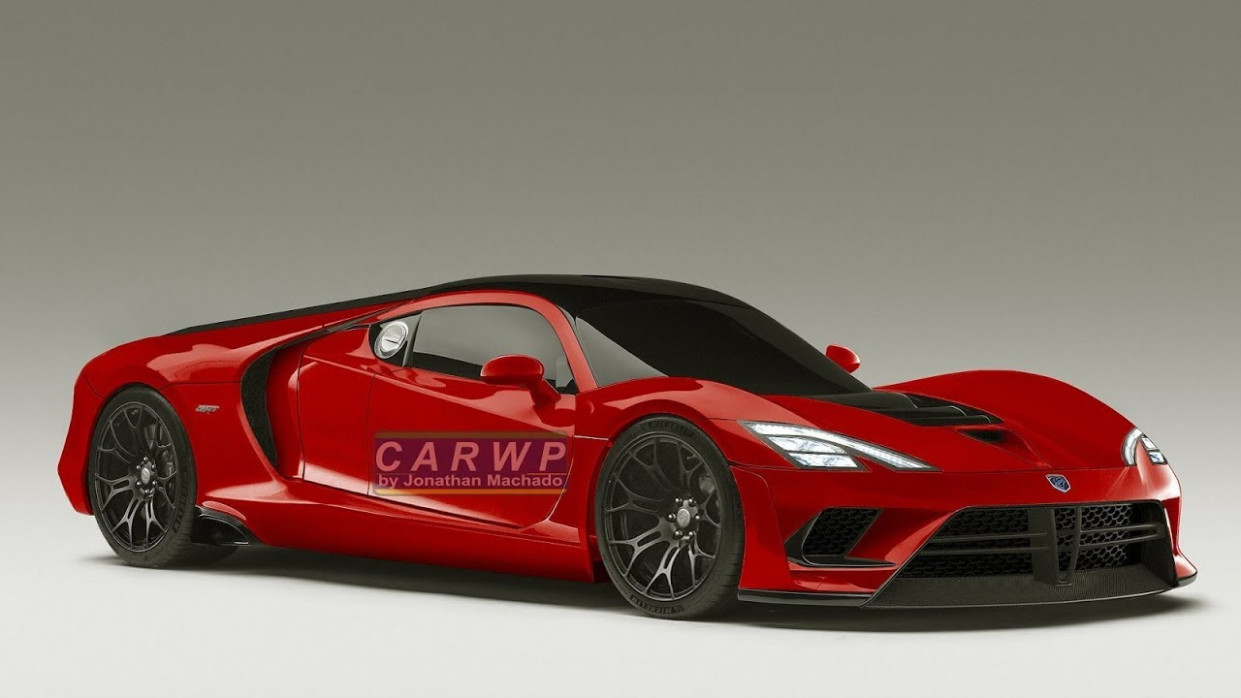 RENDER 9 Dodge Viper Mid Engined Hybrid Concept 9.9 Ferrari V9 Twin  Turbo 9 hp @ Ford GT Rival