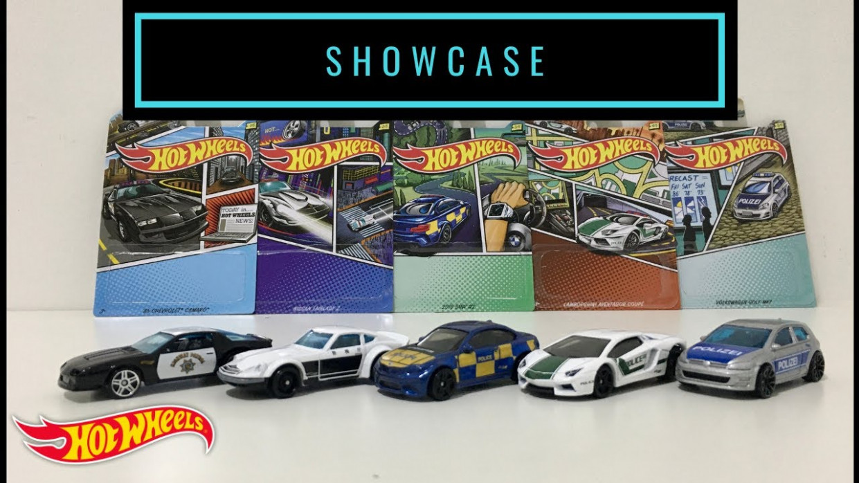 Showcase - Hot Wheels 11 Police (??) Set (Themed Assortment)