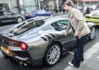 Singer Jay Kay from Jamiroquai Driving his Ferrari F8 TDF in London!!