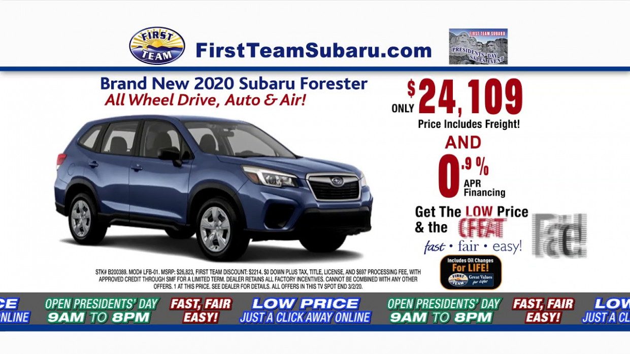 SUBARU PRESIDENTS' DAY SALES EVENT