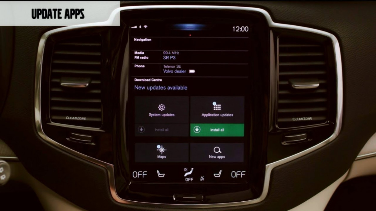 Volvo - How to Update apps with Volvo Sensus Connect