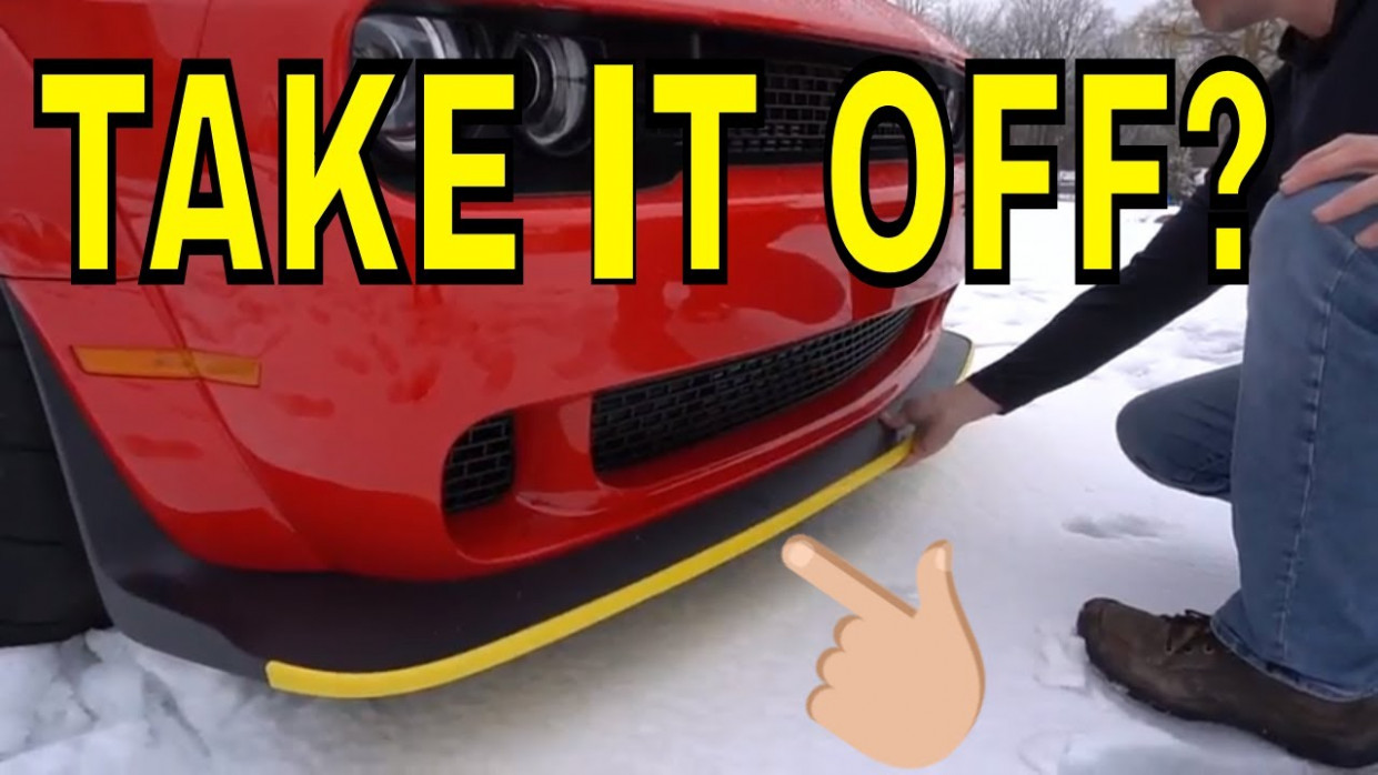 What is this Yellow Strip on the Front of the Dodge Demons? - 2020 dodge charger yellow bumper guard
