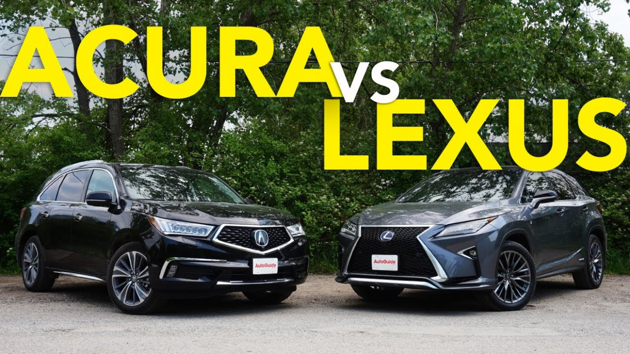 6 Acura MDX vs Lexus RX Comparison: Which Luxury Crossover Does a Better  Job? - acura vs lexus 2020