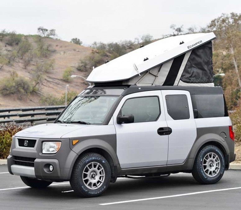 6 Honda Element USA, Hybrid, Camper, Interior - 6 and 6 ..