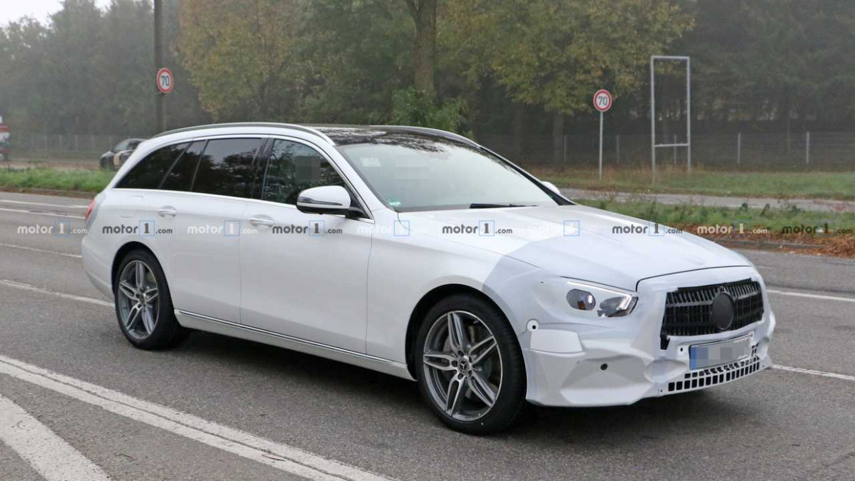 9 Mercedes E-Class Wagon Spied Dressed In White