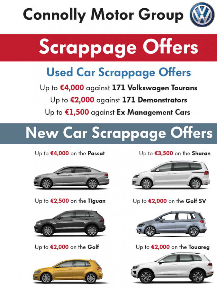 Fantastic SCRAPPAGE OFFERS at Connolly Volkswagen! | Connolly ..